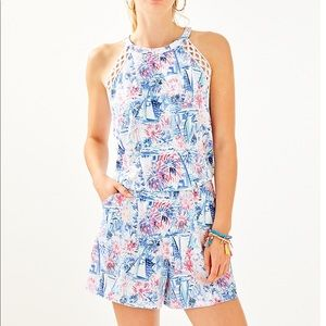 NWT Lilly Pulitzer Romper - Sea To Shining Sea